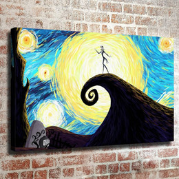 figure nightmare NZ - Nightmare Christmas,1 Pieces Home Decor HD Printed Modern Art Painting on Canvas (Unframed Framed)