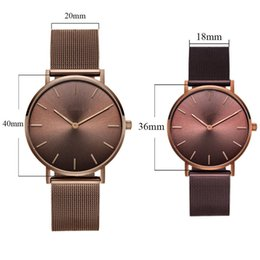 $enCountryForm.capitalKeyWord Australia - Mavis Hare 36mm Chocolate 40mm Woman Watches Coffee Dial Wristwatch With Stainless Steel Mesh Bracelet Bands 2 Size MX190720