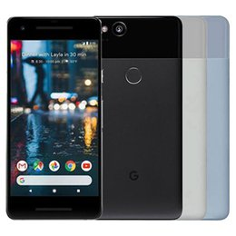 refurbished unlock cell phones NZ - Refurbished Original Google Pixel 2 5.0 inch Octa Core 4GB RAM 64 128GB ROM Android 8.0 Unlocked 4G LTE Mobile Cell Phone Free DHL 1pcs