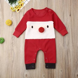$enCountryForm.capitalKeyWord Australia - kids designer clothes girls boys Christmas romper newborn infant Xmas Jumpsuits Spring Autumn Santa Claus baby Climbing clothes C1217