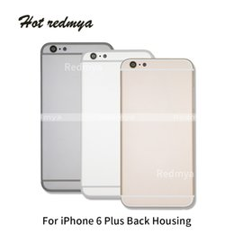 iphone rear chassis Australia - 6P Housing Cover For iPhone 6 6Plus Door Rear Case Battery Cover Chassis Frame Back Middle Frame For iphone 6p Replacement