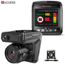 Gps Rearview Camera NZ - Ruccess STR-LD200-G 3 in 1 Car DVR Radar Detector Laser With GPS Full HD 1296P 1080P Dual Recorder Dash Camera Front and Rear