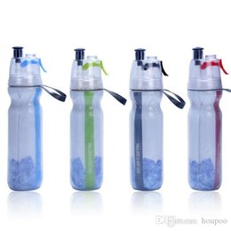 sports drinking NZ - 17oz Keep Cold Thermos Mist Spray Water Bottle BPA Free Double Wall Cup Ice Cold Drinking Squeeze Bottle Car Mugs for Sports