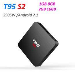 Box S2 Australia - T95 S2 2GB 16GB Quad Core Amlogic S905W Android 7.1 TV Box Arabic IPTV Media Player 1GB 8GB