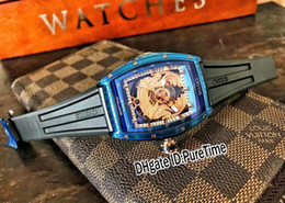 $enCountryForm.capitalKeyWord Australia - New 45mm CVSTOS Challenge Jetliner Coat of Arms Proud To Be Kazakhstan Two Tone Blue Rose Gold Skeleton Dial Automatic Mens Watch Rubber