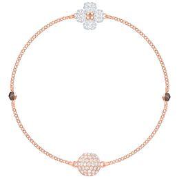$enCountryForm.capitalKeyWord Australia - MINA BEAR 2019 SWA New Crystal Black and White Double Layer Clover Rose Gold Leather Bracelet Elegant Love Gift