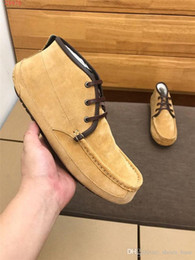 latest men flat casual shoes NZ - Mens Latest Cotton wool shoes,Warm comfortable simple leather ankle boots,Casual flat loafers for men size 38-44