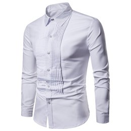 $enCountryForm.capitalKeyWord Australia - 2019 New Designer Wedding Shirts For Men Long Sleeve Fashion Social Club Party Black White Men Dress Shirts Camisa Masculina