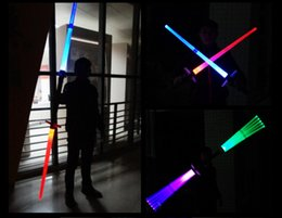 Toy Swords Wholesale NZ - Free DHL Colorful Telescopic Lightsaber Cosplay Props Toys LED Light Flashing Cross Laser Sword with Sound Effect Kids Outdoor Toy Gift