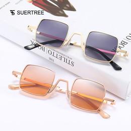 a39e2287fa wholesale Square Small Sunglasses Women Men Ladies Tiny Sun Glasses Trendy  Slim Cool Shades for Travel Party 22019