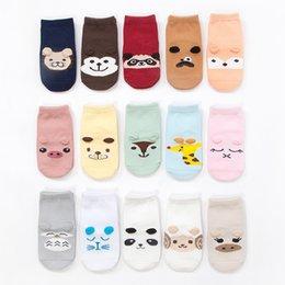 Discount girls white ankle socks - 2Pairs Unisex Boy Girl Toddler Socks Children Cotton Solid Low Ankle Socks Kids Harajuku Funny Animal Cartonn Print Patt