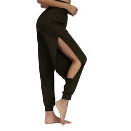 $enCountryForm.capitalKeyWord UK - Vertvie New Women Fitness Yoga Pants Quick Drying Sports Pant Women's Side Slit Wide Leg Solid Soft Elastic Waistband Yoga Pants #286055