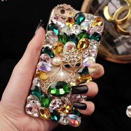 $enCountryForm.capitalKeyWord NZ - 2019 New Arrival Phone Case Designer for Iphone 6 6s 6p 6sp 7 8 7p 8p X XS XR XS MAX Luxury Rhinestone with Little Fox Five Colors Wholesale