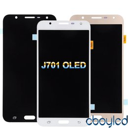 Samsung Galaxy Lcd Screen Australia - AMOLED LCDs Full Digitizer For Samsung Galaxy J7 neo J701 J701F J701M J701MT LCD Display Touch Screen Assembly Replacement