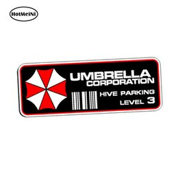 Chinese  wholesale 20pcs lot Car Styling Umbrella Corporation Hive Parking Level 3 Resident Evil Vinyl Decal Sticker PAIR Car Sticker 13cm x 5.2cm manufacturers