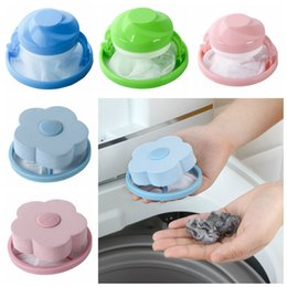 Wholesale 5styles Laundry ball Machine Mesh Filter Bag Wool Filtering Hair Removal Flower Shape Ball Removable Cleaning Floating Washing Ball FFA2683