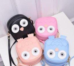 Owl Ladies Handbag Australia - Children Cute Purse Handbag Owl Women Messenger Bags Summer Crossbody Shoulder Bag with Belt Strap Lady Clutch Purses Phone girls gifts
