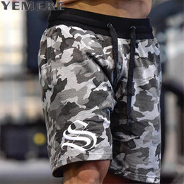 $enCountryForm.capitalKeyWord Australia - Yemeke Men's Shorts Summer Fashion Military Trunks French Terry Cotton Casual Hip Hop Male Short White Camouflage Y190508