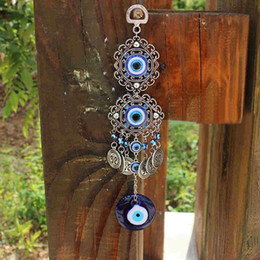 turkish accessories wholesale Australia - Shellhard 25cm Lucky Turkish Blue Evil Eye Amulat Decoration For Car Office Trendy Charm Pendants Jewelry Accessories