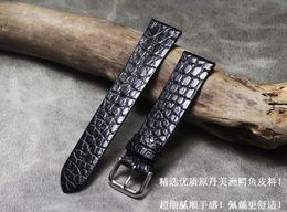 $enCountryForm.capitalKeyWord Australia - Handmade Soft Thin Watchband Strap Black Brown 18mm 20mm 21mm 22mm American Crocodile Skin Watch Band Strap T190708