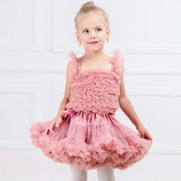 wholesale tutus Australia - New Fashion Baby Girls Tutus Kids Fluffy Chiffon Pettiskirt Children Princess Party Birthday Prom Bubble Skirt