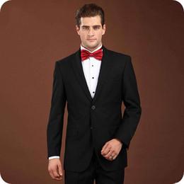 $enCountryForm.capitalKeyWord Canada - Black White Groom Tuxedos Men Suits for Wedding Man Blazer Notched Lapel Smoking Jacket 2piece Handsome Groomsmen trajes de hombre Coat Pant
