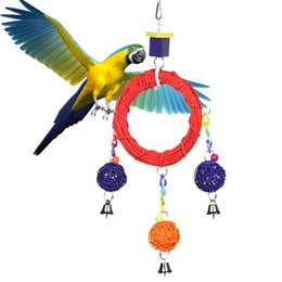 $enCountryForm.capitalKeyWord Australia - Bird Supplies Stand Rack Bird Cage Accessories Wood Parrot Swing Rattan Cirque Ball Gnawing Bird Toys