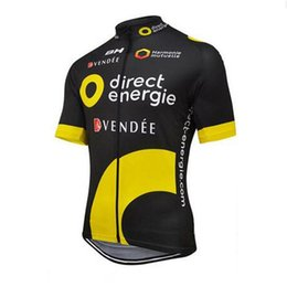 Bicycle Sales NZ - Direct Energie Men Cycling Jersey short sleeve Bicycle shirt road Bike clothes Breathable outdoor Clothing Factory direct sale Y012412