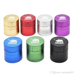 sizes cigarette boxes Canada - 4 Parts Cali Crusher Homegrown Grinder 4 Piece Tobacco Herb Aluminum Grinder Size 52mm 40mm Cigarette Machine Scraper with Gift Box 2pcs