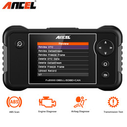 Saturn Honda Engine Australia - Ancel FX2000 Auto Diagnostic Tool Support Engine ABS Airbag Transmission Multi-language Automotive Scan Tool OBD2 OBD 2 Scanner