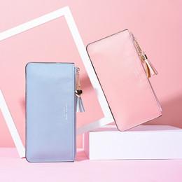 $enCountryForm.capitalKeyWord Australia - New ladies long wallet female hand take mobile phone bag ultra-thin bright leather sweet pu wallet ladies