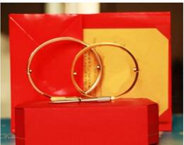 2019 Titanium стальные браслеты серебро розовое золото браслеты женщины мужчины отвертка браслет пара ювелирных изделий с оригинальной коробке