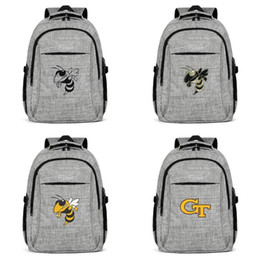 Discount usa flag jacket - Business Backpack unique Travel GA Tech Yellow Jackets football logo black camouflage Gay pride rainbow Core Smoke Gold