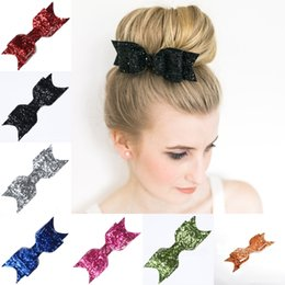 $enCountryForm.capitalKeyWord Australia - Baby Boutique Hair Clips Sequin Bow Barrette Fashion Headbands Women Hairpin with Alligator Clip Girls Hair Accessories Christmas Gift M042F