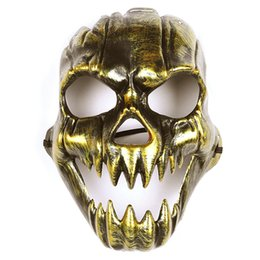 $enCountryForm.capitalKeyWord Australia - Scary Ghost Skull Skeleton Party Antique Mask Mouth Eyes Full Face Mask Army Games for Halloween Cosplay Party Decor