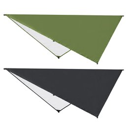 tent sunshade UK - Awning Sun Shelter Beach Outdoor Camping Garden Sun Awning Canopy Sunshade Hammock Rain Fly Tarp Waterproof Tent Shade