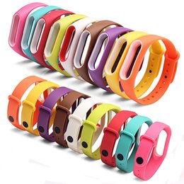 Wholesale Replace Smart Band Accessories Miband Smart Straps Bracelet Replacement for Xiaomi Mi Band Silicone Wristbands