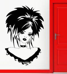 $enCountryForm.capitalKeyWord Australia - Fashion Style Teen Girl Wall Vinyl Decal Gothic Sexy Beautiful Hairstyle Wall Stickers For Girl Room Wall Tattoo Art Mural