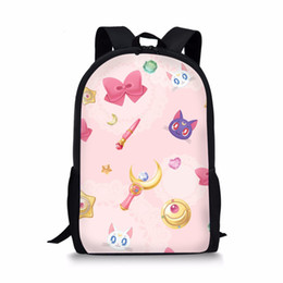 card captor cosplay NZ - FORUDESIGNS Japanese Comic Card Captor Sakura School Bags For Girl Student Bookbag Magical Sakura Cosplay Schoolbag Backpack
