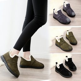 Snow boot inSoleS online shopping - Ankle Boots Snow Boots Women Flats Winter Fashion Warm Winter Short Boots New Arrival Women Shoes Fur Plush Insole Shoes Women
