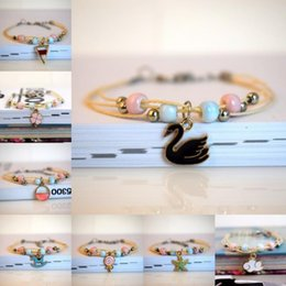 $enCountryForm.capitalKeyWord Australia - Jingdezhen ceramic bracelet weaving original small fresh pendant bracelet