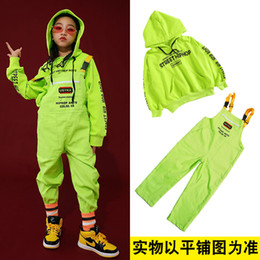 Wholesale boys hip hop pants kids for sale - Group buy Children s Street Dance Suit Loose Green Jacket White Pants Set Kids Girls Boys Hip Hop Jazz Costumes for Stage Performance