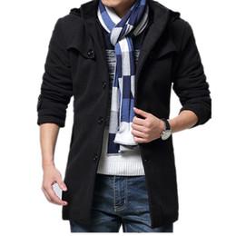 Thickness Coatings Australia - Men 4XL Winter Jackets Long Woollen Trench Coat Fashion Thick Overcoat Men, Thickness Men's Jacket