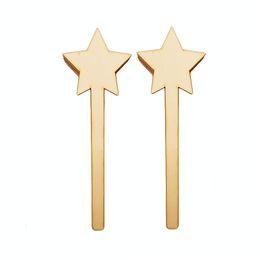 $enCountryForm.capitalKeyWord Australia - 20pcs Laser Cut Star Heart Shape Fairy Wands Craft Sticks Blank Children's Day Baby Shower Wedding Party Diy Painting Gift