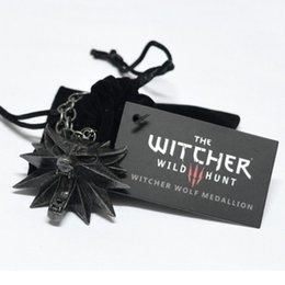 $enCountryForm.capitalKeyWord Australia - 2076 High Quality The Witcher 3 Hunting Wolf Head Necklace Men's Vintage Pendant With Card