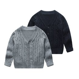 $enCountryForm.capitalKeyWord Australia - England Style Baby Cardigan Spring Autumn Knitted Jacket for Kids Boys and Girls Children's Warm Knitted Coat Outer Wear
