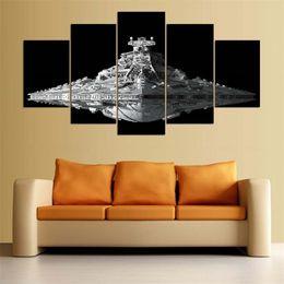 $enCountryForm.capitalKeyWord Australia - Millennium Falcon,5 Pieces Home Decor HD Printed Modern Art Painting on Canvas (Unframed Framed)