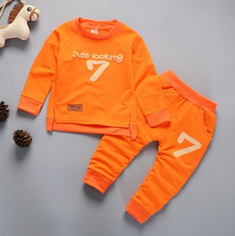 Warm Suits For Winter Australia - Autumn Winter Children Clothing Boy Girl Keep Warm Long Sleeve Sweaters+Pants Fashion Kids Clothes Sports Suit For Boys