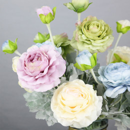 $enCountryForm.capitalKeyWord NZ - Bloom Artificial Fake Peonies Silk Flowers Backdrop For A Wedding Home Decoration Blue Dahlia Flowers Lotus Flocking Leaves Stem
