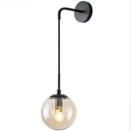 $enCountryForm.capitalKeyWord UK - Modern Northern Europe Vintage Metal Glass Wall Lamp Industrial Indoor Lighting Bedside Lamps Indoor Light Sconce Wall Lights